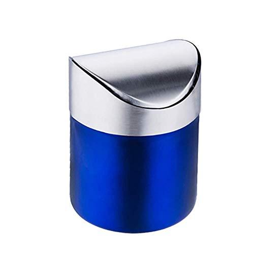 Roestvrijstalen tafel prullenbak aanrecht trash trash trash Swing 1,5 l / 00:40,Blue