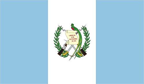 JMM Industries Guatemala Flagge Vinyl-Aufkleber Guatemalan Guatemalteco Chapín Auto-Fenster Stoßstange, 12,7 x 7,6 cm, hochwertig, UV-beständiges Laminat Paza 38