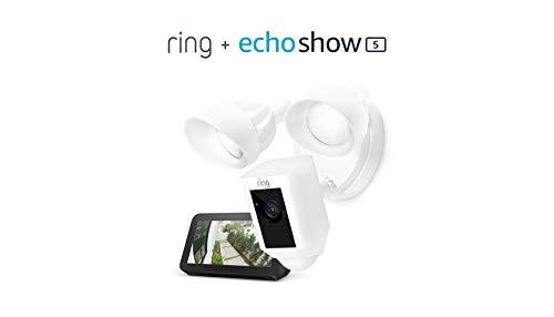 【$149 OFF】Ring Floodlight Camera with Echo Show 5 带摄像头和传感器的脚灯系统