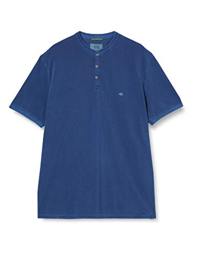 camel active Herren Polo Halbarm Polohemd, Dark Blue, XL