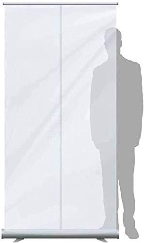 BESTPRVA Pantallas transparentes protectores de pantalla retráctil, Higiene transparente, estornudo de la Guardia, Biombo.Planta Permanente Pull-Up Roller Banners.Use de gimnasio, salón, peluquero, Ba