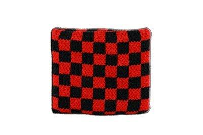 Flaggenfritze–Bandera de Cinta para el Sudor Cuadros Rojo y Negro, Juego de 2