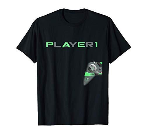Gaming zocken Konsole Geschenk PS5 Spruch lustig Gamer Paar T-Shirt
