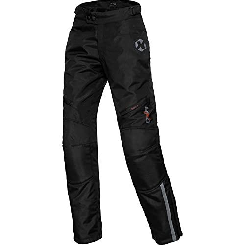 DXR Motorradhose Damen Tour Textilhose 5.0, Motorradhose Damen, wasserdicht, Winddicht, atmungsaktiv, Thermofutter, weitenverstellbarer Bund, Schwarz, XS