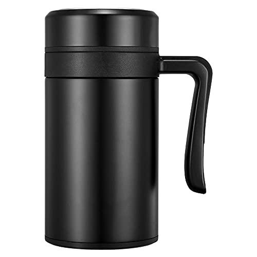 LQAYLL Thermos, Taza de té de Malla de Filtro con asa, Taza de Oficina de Acero Inoxidable, Material de Acero Inoxidable, Adecuado para Oficina en casa, etc. 450ml