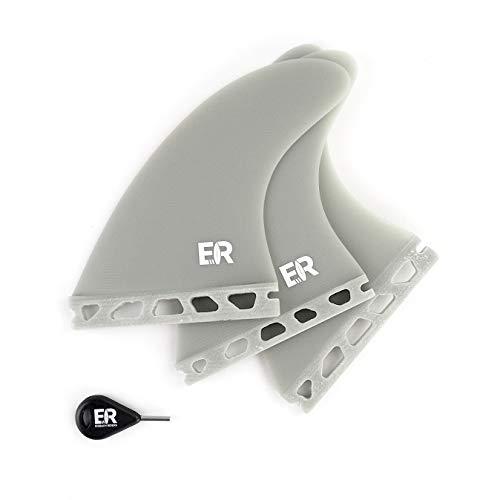 Eisbach Riders - Juego de aletas para tabla de surf y SUP (fibra de vidrio, tamaño mediano), gris, Medium - G5