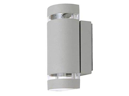 Licht-erlebnisse - Moderna lampada da parete per esterni Focus, con lampadina a LED, in alluminio pressofuso, illuminazione facciata, luce Up- & Downlight
