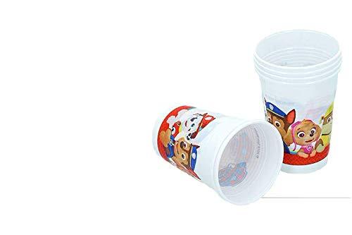 Patrulla canina, 0348, Pack 6 Vasos de plástico para Fiestas y cumpleaños...