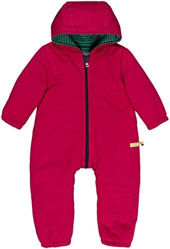 loud + proud Baby-Unisex Wasserabweisender, Wattierter Overall Aus Bio Baumwolle, GOTS Zertifiziert Schneeanzug, Rosa (Berry Ber), 68 (Herstellergröße: 62/68)