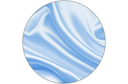 Satin Fabric 5 Yards Baby Blue 58 inches Wide Affordable, Lightweight and Inexpensive. Smooth, for Weddings, Decor, Gowns, Sheets, Costumes, Dresses, Special Events Tablecloth Wedding Decoration…