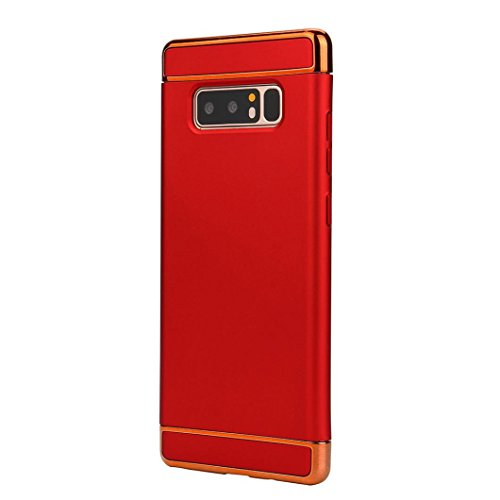 Coohole 2017 New Fashion Thin Electroplate Hard Case Cover for Samsung Galaxy Note 8 (Red, Note 8)