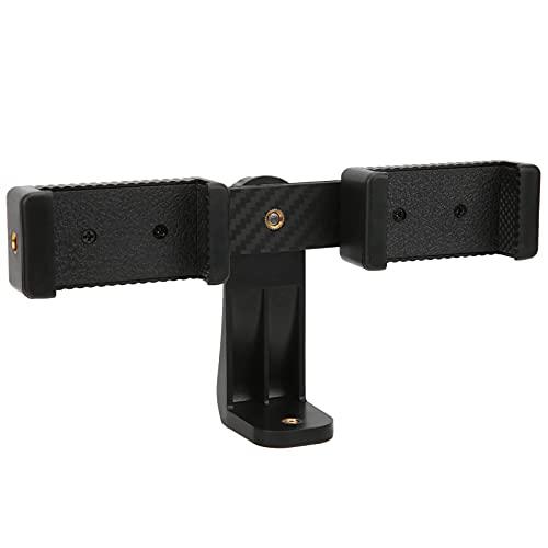 Mini-Stativ mit Dual-Clips, mit 1/4-Zoll-Schrauben Telefonhalter Zwei Positionen 360 ° drehbar für Fotografie für Selfie für Mobiltelefone Video-Live-Streaming