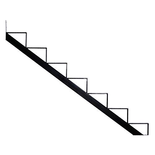 Pylex 13907 7 Steps Steel Stair Stringers, Black