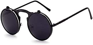 Unisex Classic Round Circle Frame Sunglasses Metal Frame Colored Lens UV Protection