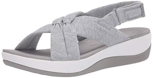 Clarks Women's Arla Belle Sandal, Grey Heathered Textile, 5.5 M US