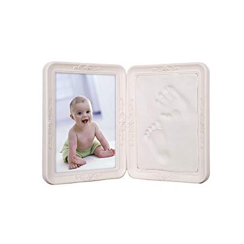 Kit cadre photo empreinte de main et empreinte béb Bébé mains et des pieds Imprimer boue Souvenir bricolage bébé nouveau-né mains et des pieds Imprimer pliant Imprimer boue Cent Jours cadeau immortali