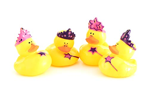 Sunmondo 4 Stück Bade-Enten Prinzessinnen mit Krone