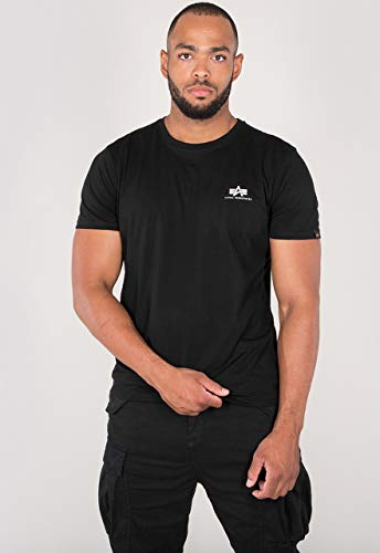Alpha Industries Basic T Small Logo T-Shirt Schwarz M