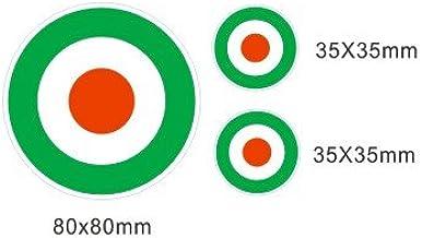 Lote 3 pegatinas vinilo impreso para coche, pared, puerta, nevera, carpeta, etc. Bandera aviacion italia: Amazon.es: Coche y moto