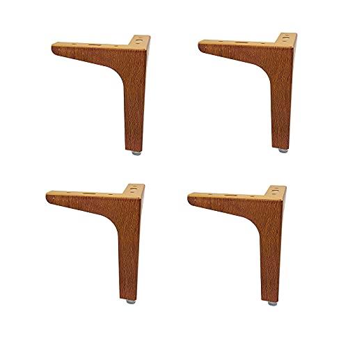RENSHENKTO 4 pies de mesa a prueba de herrumbre exquisitas patas de escritorio, muebles de escritorio, antideslizantes, elegantes pies de madera