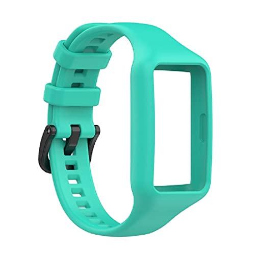 dedepeng Correa de silicona compatible con Huawei Band 6, resistente al agua, duradera, reloj inteligente, pulsera de repuesto, deportivo, resistente a los arañazos y al polvo
