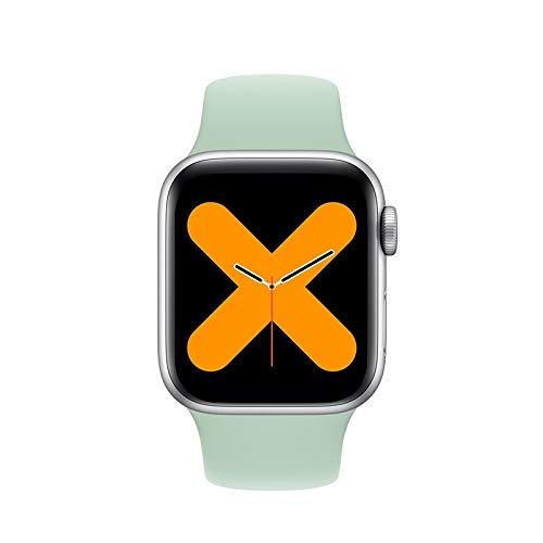 FUNSHINNY Smart Watch 44mm SmartWatch Bluetooth IP68 Waterport Sport Watch Smart Fitness Tracker (Color : Green)