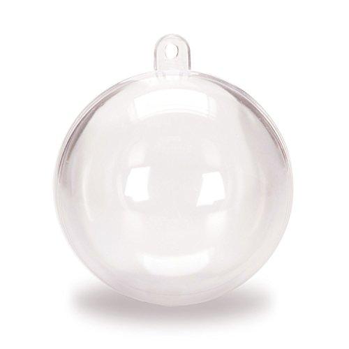 GosearClear Plastic Acrylic Fillable Christmas Ball Tree Ornament 80mm