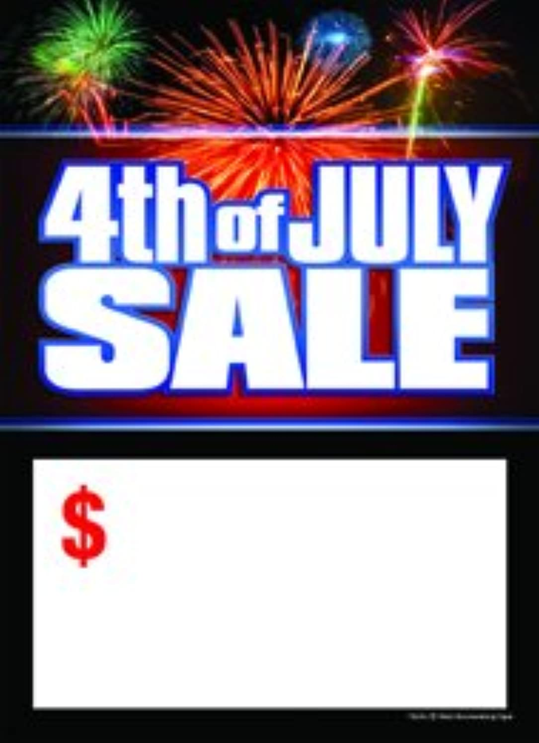T50JUL Fourth of July Sale Fireworks - Slotted Sale Tags - 5