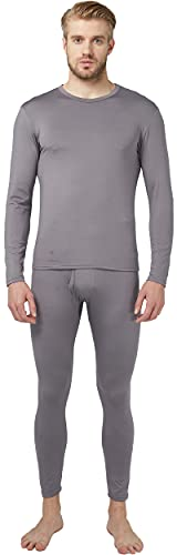 Thermal Underwear Set Winter Hunting Gear Sport Long Johns Base Layer Bottom Top Midweight Grey M