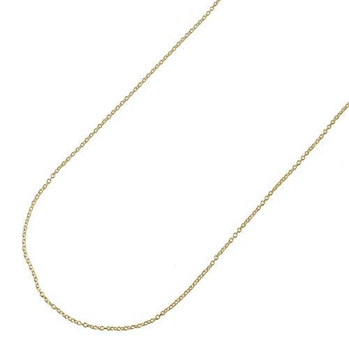 日本紐釦貿易 細身ネックレスチェーン 2mの切売カット 径線0.25mm 内径約0.45mm ゴールド KH105