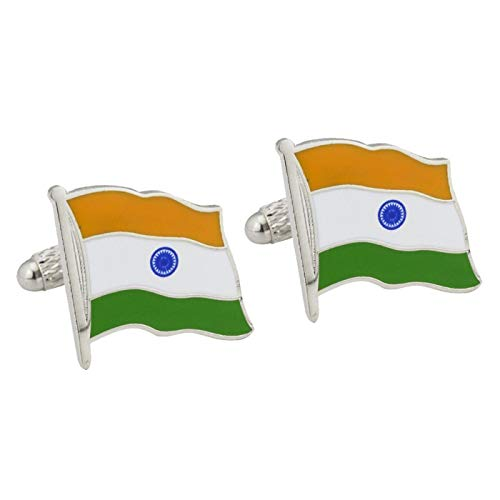 De Cufflink Store Indiase vlag manchetknopen