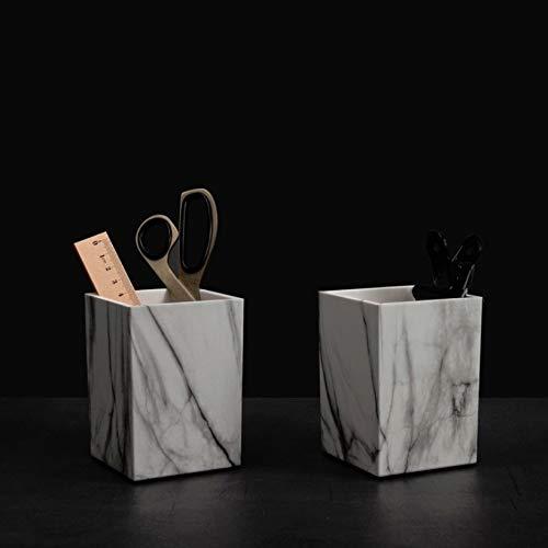 FNMYH Titular de la Pluma Caja de Almacenamiento de papelería de Escritorio de la Pluma de la Textura de mármol para la Oficina del hogar de la Escuela de Arte, etc.