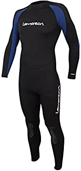 Lemorecn Wetsuits Jumpsuit Neoprene 3/2mm Full Body Diving Suit 3031,L