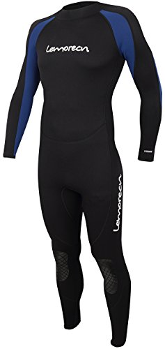 Lemorecn Wetsuits Jumpsuit Neoprene 3/2mm Full Body Diving Suit(3031,L)