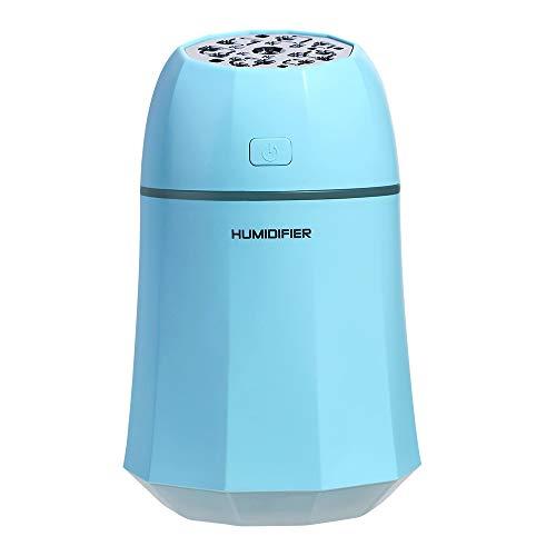 Smotly Diffuser, USB Drie in een ventilator/tafellamp/aroma-luchtbevochtiger voor thuis, kleurrijke sfeerverlichting, auto, mini-luchtverfrisser, verstuiver