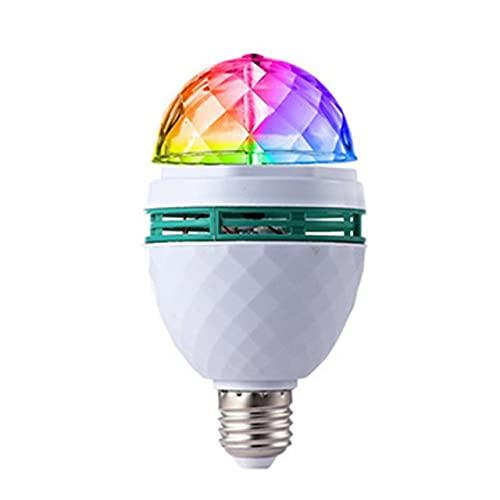 POO KTV Bar E27 Color Lámpara giratoria Duradera Resistencia y capacitancia Luz giratoria LED Inteligente de Ahorro de energía