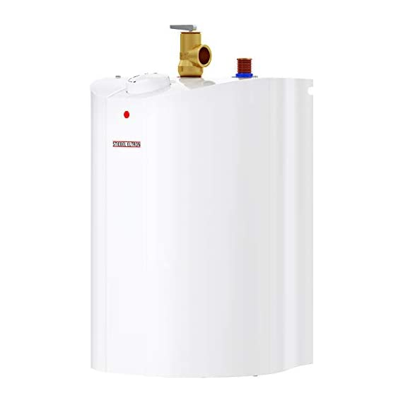 Stiebel Eltron 233219 2.5 gallon, 1300W, 120V SHC 2.5 Mini-Tank Electric Water Heater 7 Plugs into standard 120 volt outlet T and P valve included Wall-mounted with included bracket