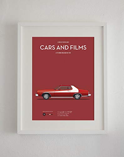 Starsky and Hutch Car Tv Series Poster Art Print Cars and Films Home Decor Prints PrintGifts for Fan Lovers Posters No Framed
