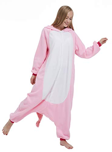 SAMGU Einhorn Adult Pyjama Cosplay Tier Onesie Body Nachtwäsche Kleid Overalll Animal Sleepwear Rosa - 4