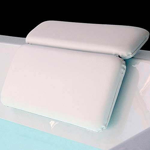GORILLA GRIP Original Spa Bath Pillow Features Powerful Gripping Technology, Comfortable, Soft, Large, 14.5x11, Luxury 2 Panel Design for Shoulder, Neck Support, Great for Hot Tub, Jacuzzi, Spas