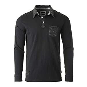 Men's Casual Long Sleeve Vintage Retro Color Dyed Pocket Polo Shirts