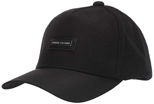 Armani Exchange A|X Herren Boxed Logo Hat Baseball Cap, schwarz, Einheitsgröße