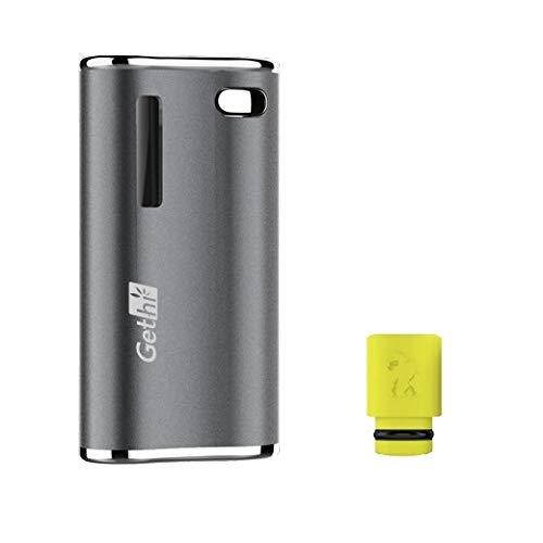 電子タバコ Airistech Gethi G2 カートリッジバッテリー ヴェポライザー カートリッジ 対応 510規格 510スレッド Cartridge battery Vaporizer VAPE ドリップチップ付き プレゼントセット (Gray)