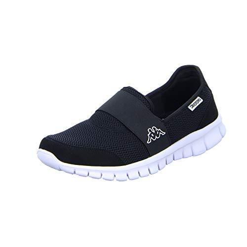 Kappa Unisex-Erwachsene Taro Sneaker, Schwarz (1110 White/Black), 39 EU