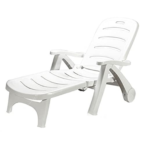 YERT Tumbona, sillón reclinable con reposabrazos, sillón Plegable con Ruedas, sillón Giratorio Ajustable en la Espalda para Adultos, niños, Junto a la Piscina, Patio Trasero, Playa