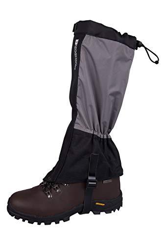Mountain Warehouse Highland Gaiters - Waterproof Walking Boots Gaiters Black Medium/Large
