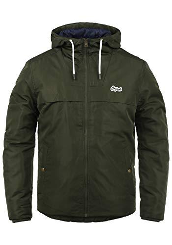 JACK & JONES Originals Paul Herren Übergangsjacke Herrenjacke Jacke mit Kapuze, Größe:XL, Farbe:Forest Night
