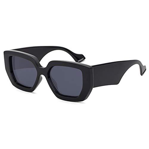 SHEEN KELLY Gafas de sol retro de gran tamaño para hombres, mujeres, gafas de sol cuadradas con forma de mariposa, gafas de sol de plástico grueso con borde