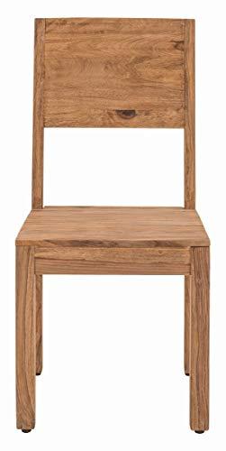 Sit Möbel Sanam Stuhl, 2er-Set Sheesham, teilgeölt L = 45 x B = 47 x H = 99 cm Natur