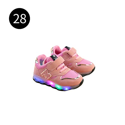 Vivitoch Kleinkind Kinder Mesh Atmungsaktiv bunte LED Licht Up Schuhe Jungen Mädchen Baby Luminous Sneakers Kinder Bequeme Sport Sportschuhe